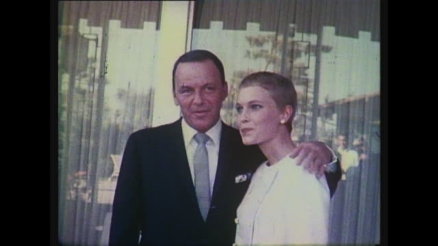 frank sinatra mia farrow outside wedding - mia farrow stock videos & royalty-free footage
