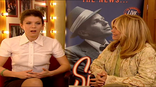 frank sinatra show opens at london palladium aj azzarto interview sot carrying on the tradition of the song book/ talks about cover versions - nancy sinatra stock videos and b-roll footage