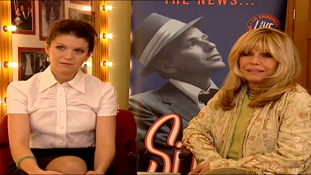 frank sinatra show opens at london palladium nancy sinatra as next to aj azzarto interview sot the frank sinatra i knew as a dad was part and parcel... - nancy sinatra stock videos and b-roll footage