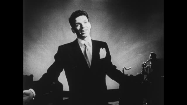 frank sinatra sings saturday night is the loneliest night of the week - frank sinatra stock videos & royalty-free footage
