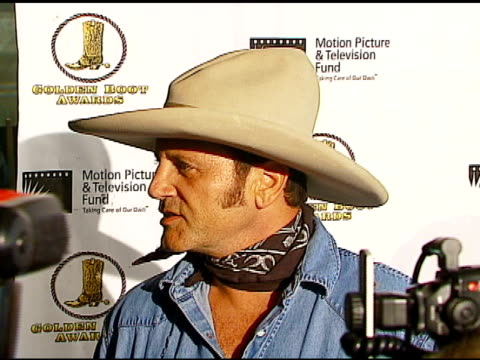 frank stallone at the the motion picture and television fund's 24th golden boot awards at the beverly hilton in beverly hills california on august 12... - motion picture & television fund stock videos & royalty-free footage