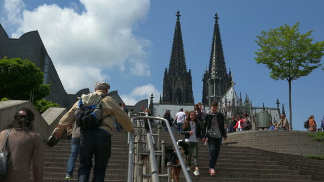 Frankenplatz and Cathedral, Cologne, North Rhine Westphalia, Germany