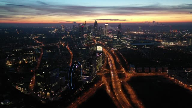 Frankfurt am Main - Aerial - Blue Hour - Near the Messe