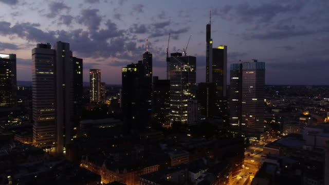 Frankfurt am Main - Aerial - Blue Hour - Skyline