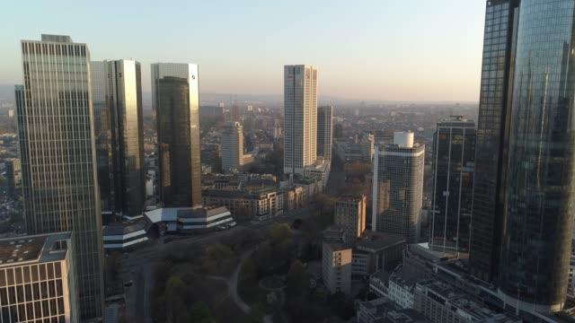 frankfurt am main/ aerial/ drone - hesse germany stock videos & royalty-free footage