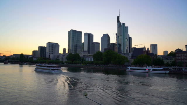 Skyline van de stad Frankfurt am Main