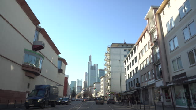 frankfurt am main - drive through the city - famous place stock videos & royalty-free footage