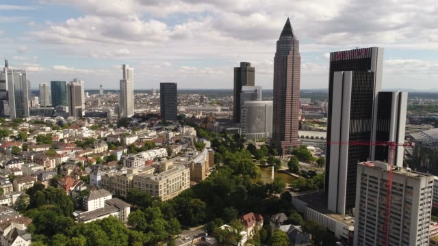 Frankfurt am Main - West - Drone shot forward - Daytime