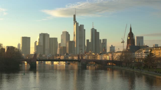 frankfurt at sunset - german culture stock videos & royalty-free footage