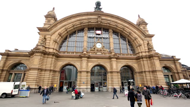 frankfurt central station - railway station stock videos and b-roll footage