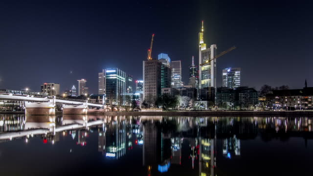 frankfurt city hyperlapse - frankfurt main stock videos and b-roll footage