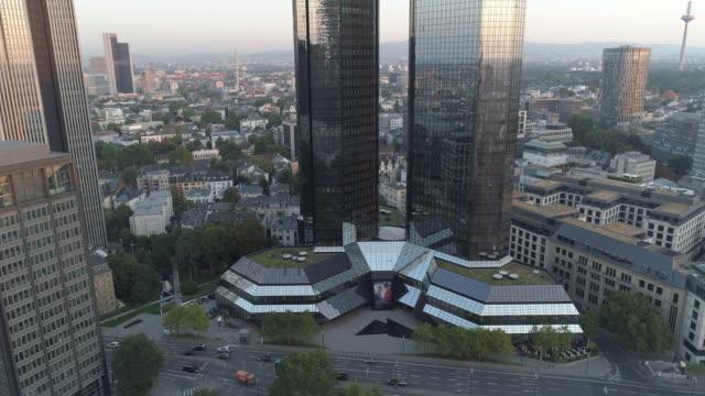 Frankfurt Drone Downtown Skyline
