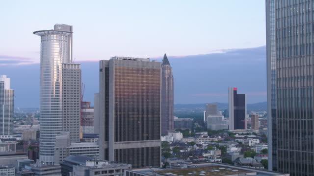 frankfurt, drone, skyline, westend - finance stock videos & royalty-free footage