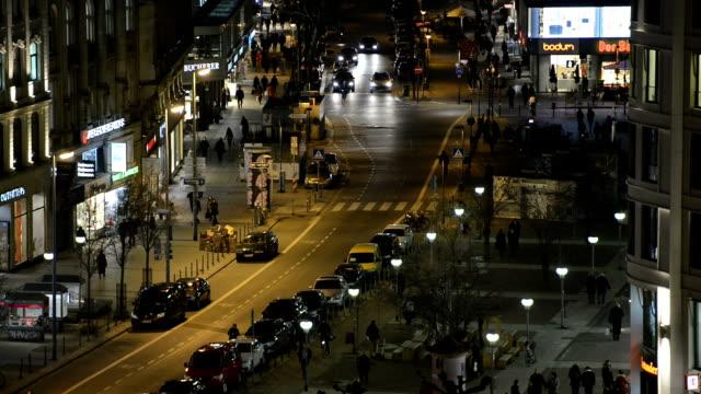 frankfurt germany city life night hd - frankfurt main stock videos and b-roll footage