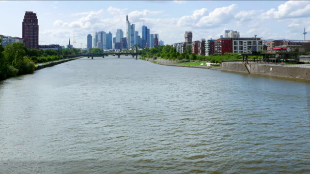 Frankfurt River Main and Financial District