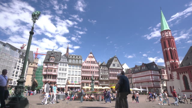 frankfurt romerberg - römerberg stock videos and b-roll footage