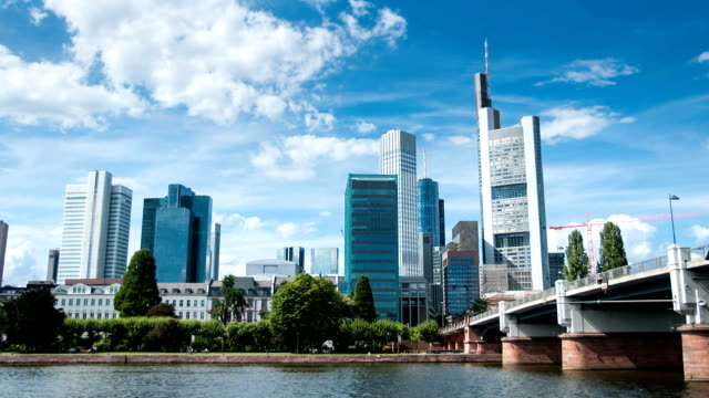 Frankfurt Skyline Day  time lapse