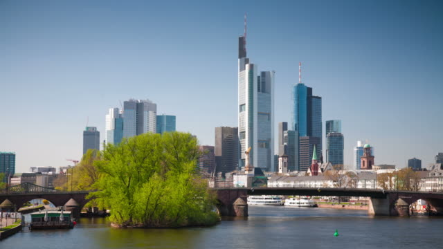 time lapse: frankfurt - dresdner bank stock videos and b-roll footage