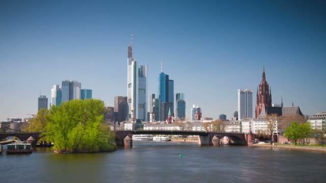 time lape: frankfurt - dresdner bank stock videos and b-roll footage