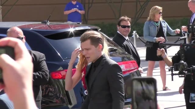 frankie ballard arriving to the 52nd academy of country music awards in celebrity sightings in las vegas - academy of country music awards stock videos & royalty-free footage