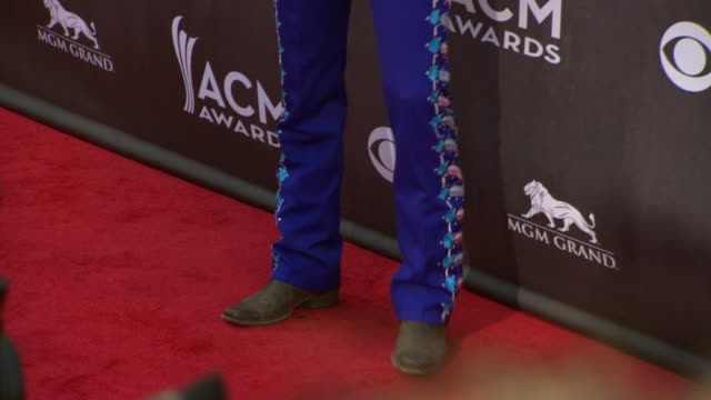 frankie ballard at the 49th annual academy of country music awards - arrivals at mgm grand garden arena on april 06, 2014 in las vegas, nevada. - frankie vegas stock videos & royalty-free footage