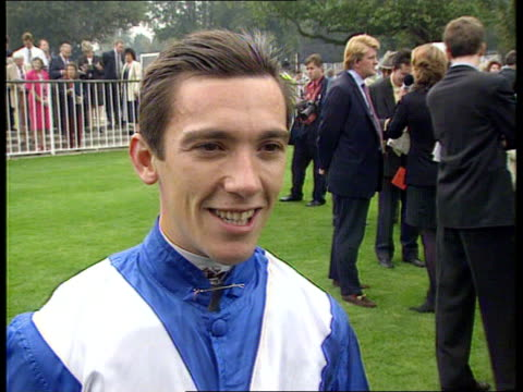 frankie dettori wins only one race at ascot; england: berkshire: ascot: itn frankie dettori intvw - life doesn't end with first face / will go on and... - ロイヤルアスコット点の映像素材/bロール