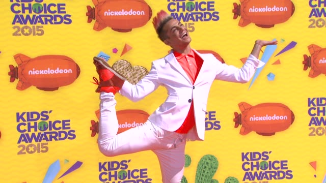 frankie j grande at nickelodeon's 28th annual kids' choice awards at the forum on march 28 2015 in inglewood california - nickelodeon stock videos & royalty-free footage