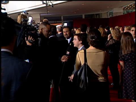 Frankie Muniz at the 2001 Emmy Awards at the Shubert Theater in Century City California on November 4 2001