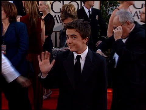 Frankie Muniz at the 2002 Golden Globe Awards at the Beverly Hilton in Beverly Hills California on January 20 2002