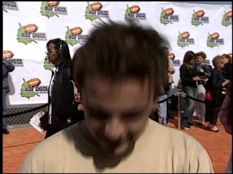 Frankie Muniz at the 2003 Kids' Choice Awards at Barker Hanger in Santa Monica California on April 12 2003