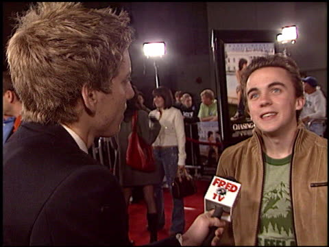 Frankie Muniz at the 'Chasing Liberty' Premiere at Grauman's Chinese Theatre in Hollywood California on January 7 2004
