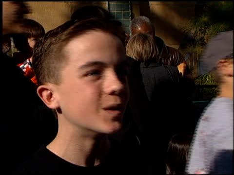 Frankie Muniz at the 'My Dog Skip' Premiere at the Egyptian Theatre in Hollywood California on January 8 2000