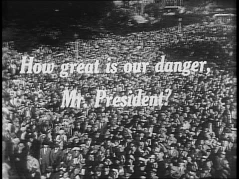 franklin d roosevelt answers questions from american citizens regarding danger of war - 1941 stock videos & royalty-free footage
