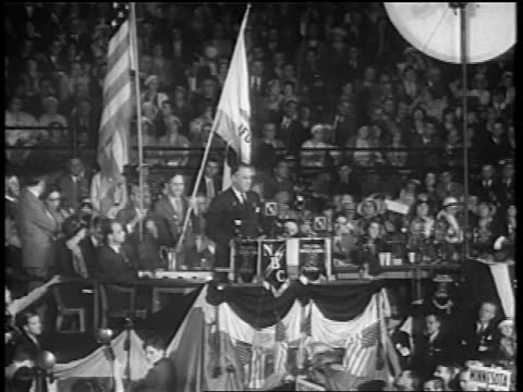 franklin d. roosevelt giving speech at podium at democratic convention / chicago - 1932 stock videos & royalty-free footage