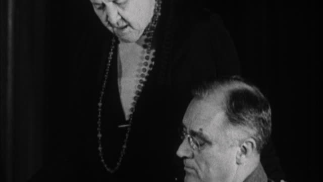 franklin d. roosevelt with his mother in office / usa - 1932 stock videos & royalty-free footage