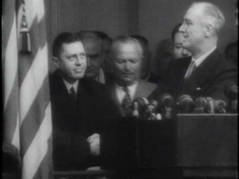 franklin delano roosevelt's presidential inauguration in 1941. - oath stock videos & royalty-free footage