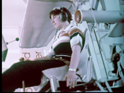 1976 MONTAGE Franklin Institute science museum. Int displays. Locomotive. Ext aerial British Airways Boeing 707 / Philadelphia, Pennsylvania, USA