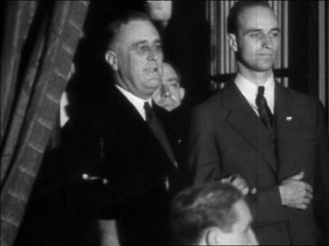 franklin roosevelt standing next to other man shouting / election night - 1932 stock videos & royalty-free footage