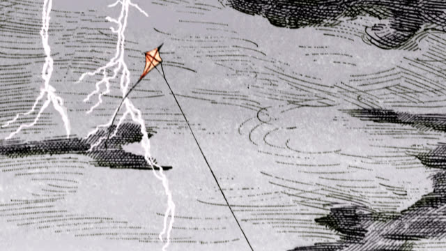 franklin's lightning experiment - benjamin franklin stock videos & royalty-free footage