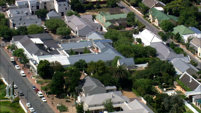 franschhoek  - aerial view - western cape,  cape winelands district municipality,  stellenbosch,  south africa - stellenbosch stock videos and b-roll footage