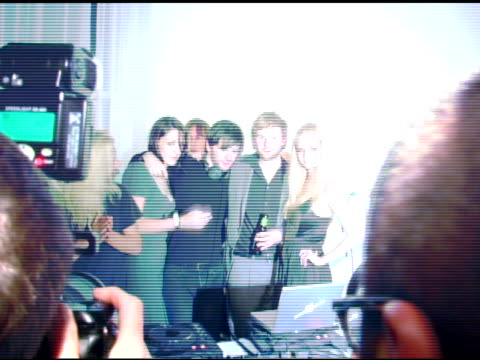 Franz Ferdinand Lydia Hearst and guests at the Motorola's 'Head and Body' Launch at Y Apartment in New York New York on October 19 2005
