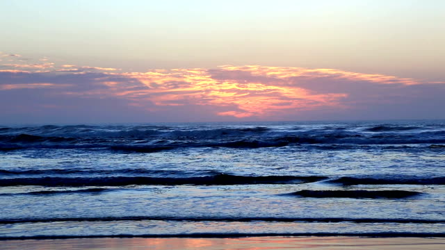 fraser island beach and sea at sunset, australia - landscaped stock videos and b-roll footage