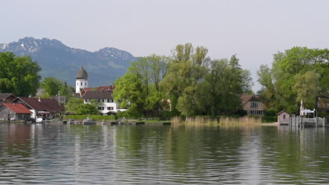 POV Frauenchiemsee island at Lake Chiemsee