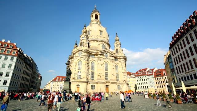 ドレスデンでの聖母教会 - 宗教的指導者 マルティン・ルター点の映像素材/bロール
