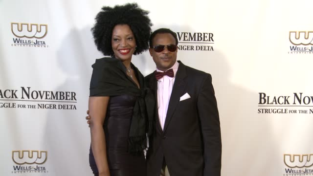 fred amata and guest at black november screening in washington dc at the john f kennedy center for performing arts on may 08 2012 in washington dc - john f. kennedy center for the performing arts stock videos and b-roll footage