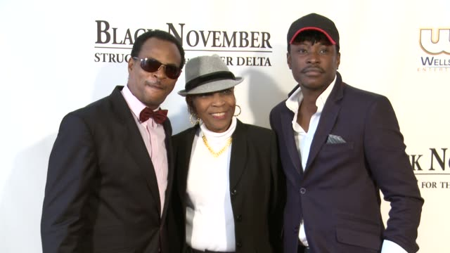 fred amata guest and jeta amata black at november screening in washington dc at the john f kennedy center for performing arts on may 08 2012 in... - john f. kennedy center for the performing arts stock videos and b-roll footage