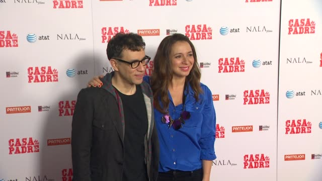 fred armisen maya rudolph at casa de mi padre los angeles premiere on 3/14/12 in los angeles ca - padre stock videos & royalty-free footage