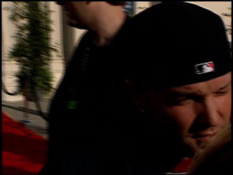 fred durst at the blockbuster awards at the shrine auditorium in los angeles, california on may 9, 2000. - shrine auditorium video stock e b–roll