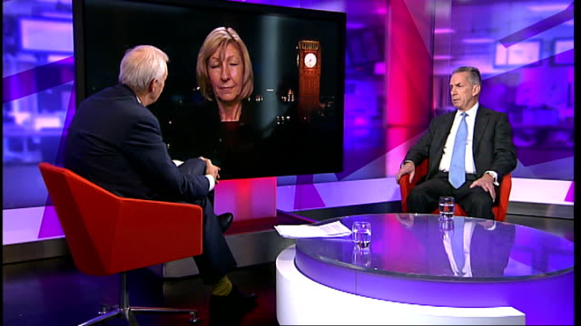 fred goodwin stripped of knighthood / political reaction; england: london: gir int terry smith live studio interview and baroness wheatcroft live... - 男爵夫人点の映像素材/bロール