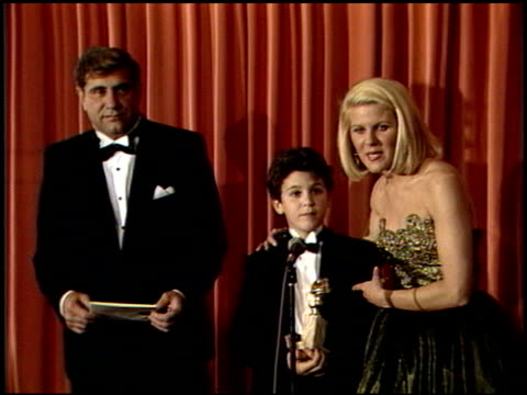 Fred Savage at the 1989 Golden Globe Awards at the Beverly Hilton in Beverly Hills California on January 28 1989